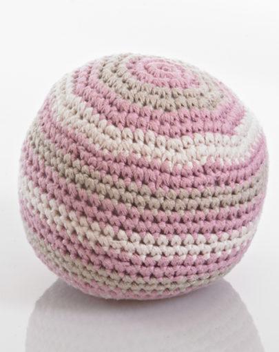 d0921c853e1 PEBBLE ΜΠΑΛΑ ΚΟΥΔΟΥΝΙΣΤΡΑ Organic cotton rattle ball dusky pink